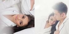 FOTO Seksi Celine Evangelista Kenakan Piyama di Ranjang